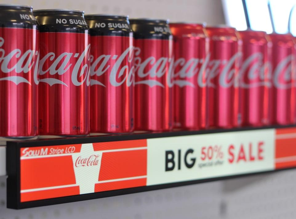 Shelf Display panel for Coca Cola promotion