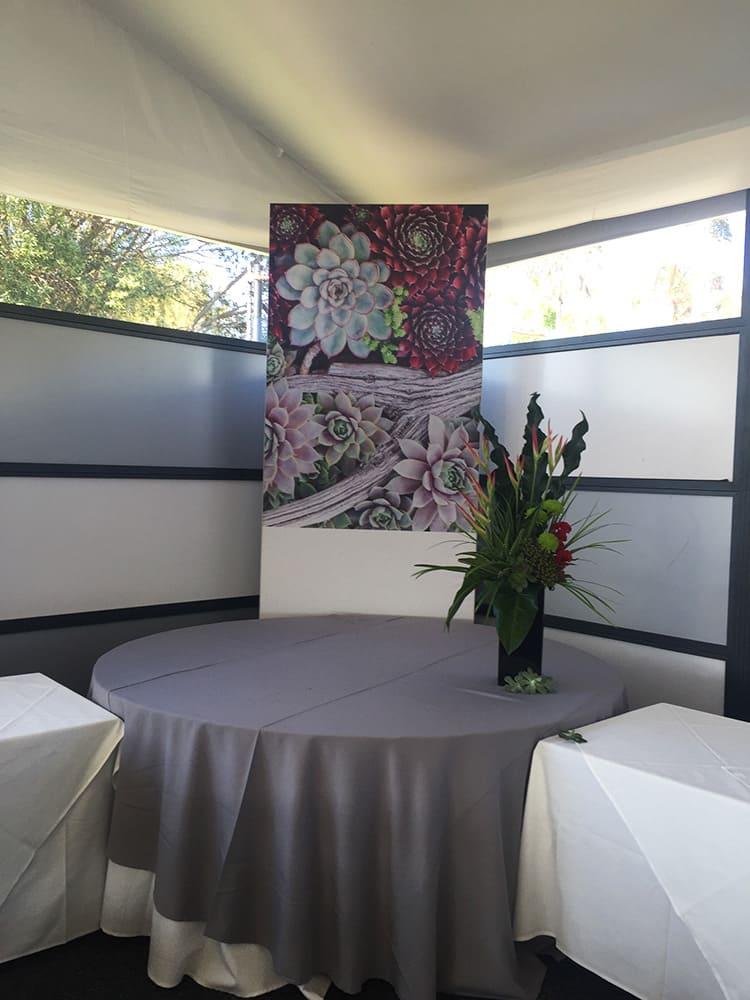 Fabric Frame of roses for Australian PGA Golf
