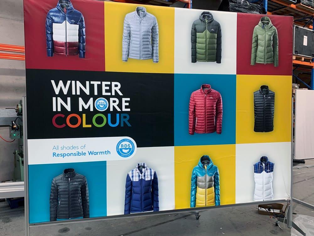 Kathmandu winter promotional Illuminated Fabric Frame of latest season jackets