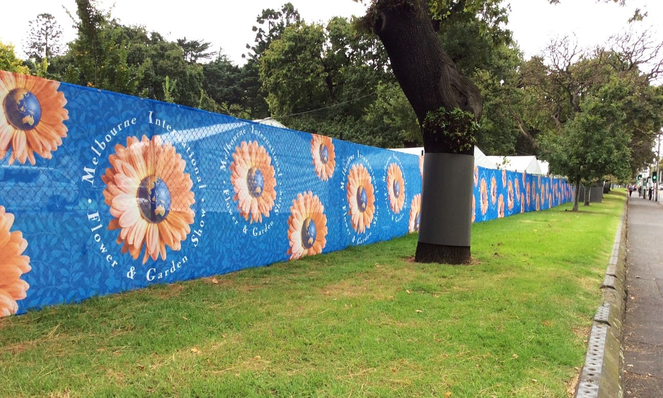 Flower Show outdoor Fence Scrim