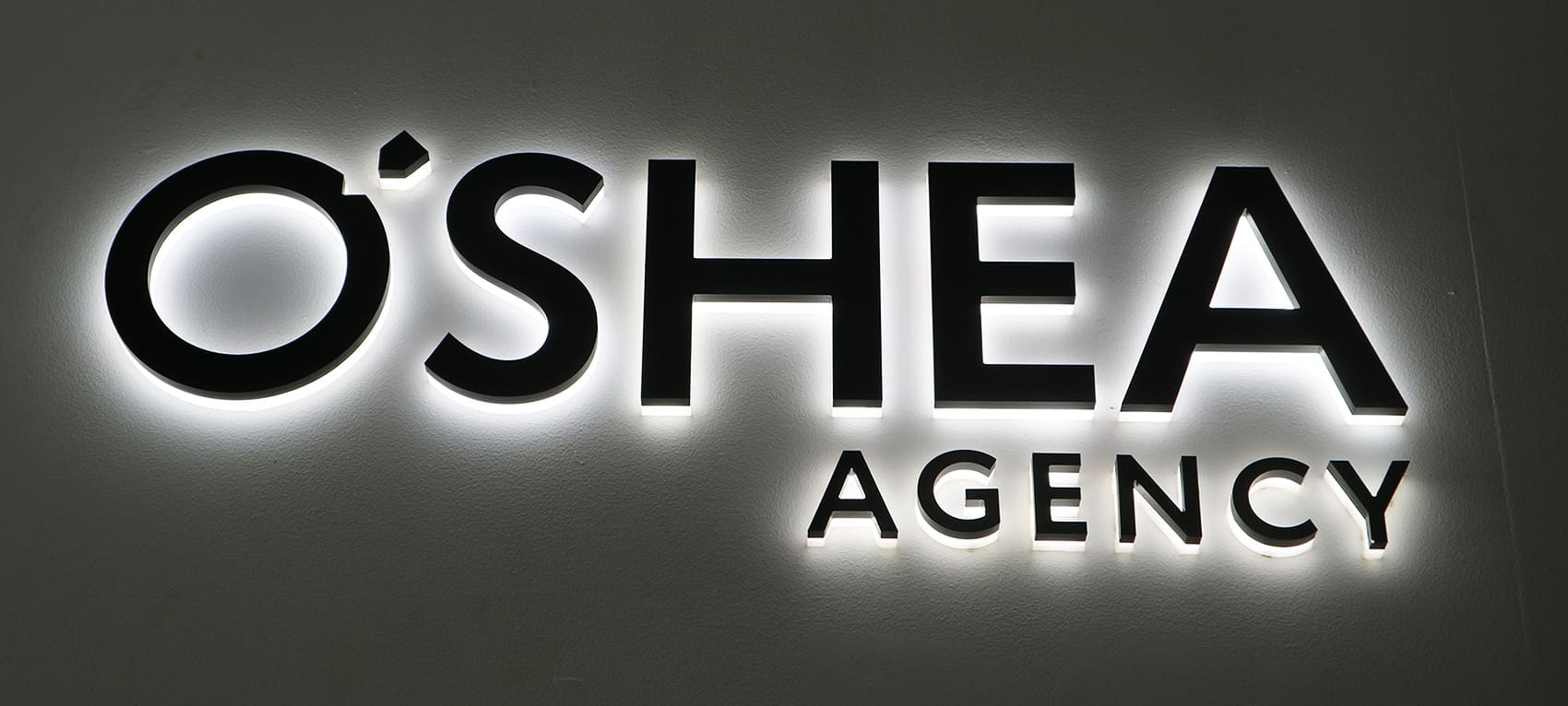 3D signage lettering O'Shea Agency