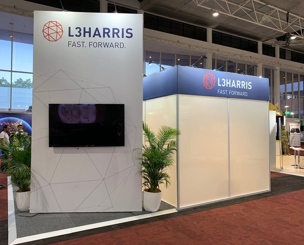 L3 Harris modular system at an industry function