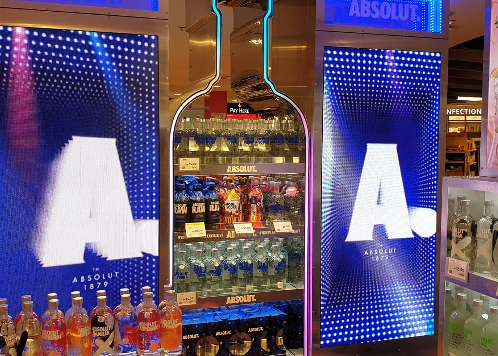 LED Display for Absolute Vodka