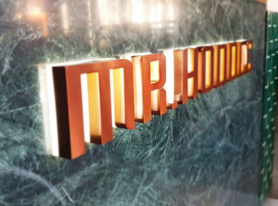 3D Lettering for Mr Hoddle restaurant in Melbourne